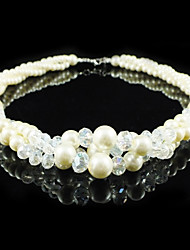 Gorgeous Alloy With Imitation Pearl/ Crystal Wedding Bridal Necklace