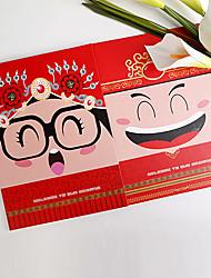 mariée de bande dessinée asiatique thème double pringting de côté et le marié de signe invité signe de livre en livre