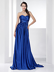 A-line Sweetheart Sweep/ Brush Train Chiffon Evening/Prom Dress