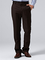 Brown Solid Suit Pants