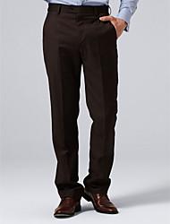 sur mesure brunes pantalons solides de costume