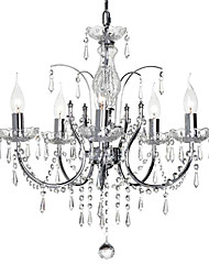 Elegant Crystal Chandelier with 5 Lights