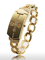 Women's Fashionable Gold Alloy Quartz Bracelet Watch Cool Watches Unique Watches