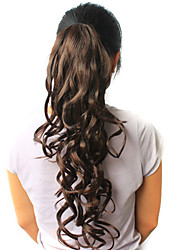 """High Quality Synthetic 22.44"""" Curly Dark Brown Ponytail"""
