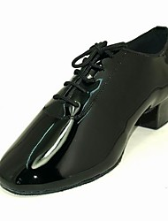 Patent Leather Upper Dance Shoes Ballroom Latin Shoes for Men