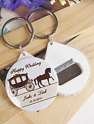 Personalized Bottle Opener / Key Ring - Carriage (set of 12)