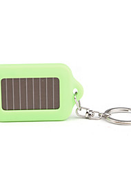 Solar Powered White Light LED and UV 3-LED Keychain Flashlight (Green)