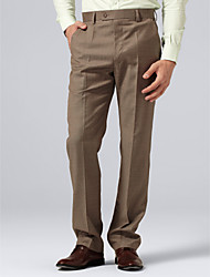Olive Check Suit Pants