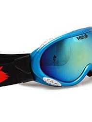 novos profissionais duplo lente anti fog azul esqui óculos de neve goggle