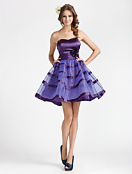 Cocktail Party / Homecoming / Wedding Party / Sweet 16 Dress - Short Plus Size / Petite A-line / Princess Strapless / SweetheartShort /