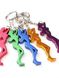 Beauty Shaped Bottle Opener Keychain (Random Color)