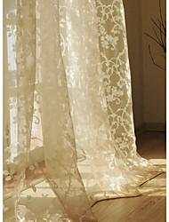 imprimir amarillento cortina escarpada informal (dos paneles)