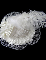 Women's Satin/Imitation Pearl Headpiece - Wedding/Special Occasion/Casual Hats