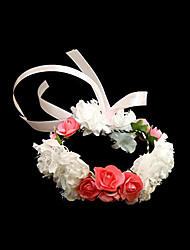 Lovely White With Red Satin/ Paper Flower Wedding Flower Girl/Bridal Wrist Flower