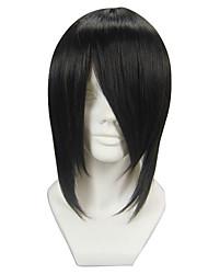 Perruques de Cosplay Black Butler Sebastian Michaelis Noir Court Anime Perruques de Cosplay 35 CM Fibre résistante à la chaleur Masculin