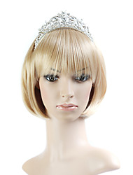 Capless Bob Style 100% Japanese Kanekalon Fiber Light Blonde Straight Hair Wig