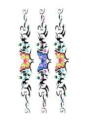 5 pcs tatouage de papillon étanche temporaire (19m * 9cm)