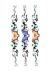 5 pcs borboleta tatuagem temporária à prova d'água (19m * 9cm)