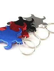 tortue ouvre bouteille en aluminium en forme de porte-clés (couleur aléatoire)