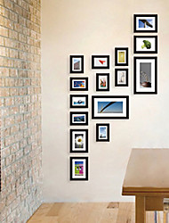 Contemporary Gallery Black Collage Wall Picture Frames, Set of 15