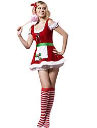 traje de navidad - disfraz de niña encantadora de Navidad
