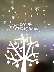 Christmas Decoration Wall Stickers Holiday Ornaments Christmas Trees in Snow