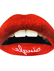 5 Pcs Red Temporaty Lip Tattoo Sticker