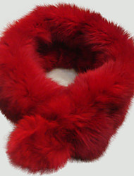 TS Color Rabbit Fur Circle Scarf (60cm) (More Colors)