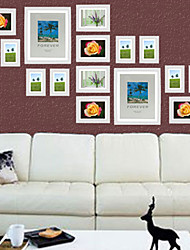 White Photo Wall Frame Collection - Set of 16