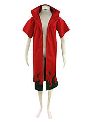 Inspiré par Naruto Naruto Uzumaki Manga Costumes de Cosplay Costumes Cosplay Imprimé Manches Courtes Manteau Pour Masculin
