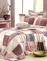 4-Piece Elegant Living Cotton Duvet Cover Set