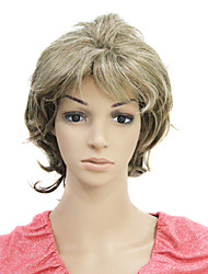 Capless Short Curly Synthetic Hair Wig