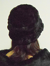 TS Black Faux Fur Hat