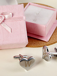 Gift Groomsman Personalized Heart Shaped Cufflinks