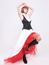 Inspiré par Vocaloid Meiko Vidéo Jeu Costumes Cosplay Costumes Cosplay Mosaïque Rouge Top