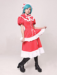 Inspired by TouHou Project Hina Kagiyama Video Game Cosplay Costumes Cosplay Suits Patchwork Red Top