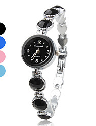liga faixa de relógio pulseira de quartzo para mulheres