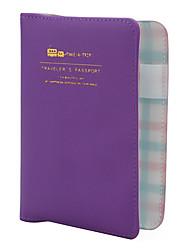 viaggiare credenziali borsa con etichetta bagaglio e memo pad (colori assortiti)