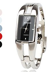 Mulheres Relógio de Moda Quartz Lega Banda Bracelete Prata marca-
