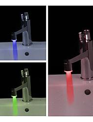 salle d'eau à portée de main alimenté LED robinet (en plastique, finition chrome)