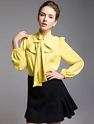 TS Mustard Bow-tie Shirt