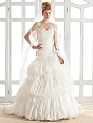YAMINI - Vestido de Noiva em Tafetá