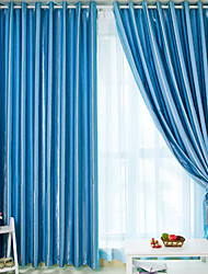 AnTi™ (Two Panels) Energy Saving Solid Classic Curtain