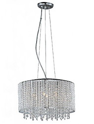 Crystal Pendant Light with 7 Lights in Cylinder Shape
