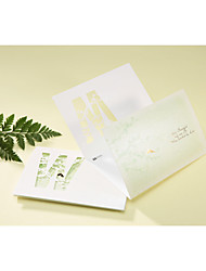 Não personalizado Tri-Dobrado Convites de casamento Cartões de convite-50 Peça/Conjunto Estilo Artístico / Estilo Clássico Papel Pérola6