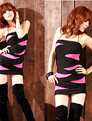 sexy couleur géométrique de blocage robe