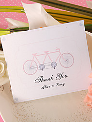 Thank You Card - Tandem Bicycle  (Set of 50)