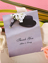 Thank You Card - Bouquet and Hat (Set of 50)