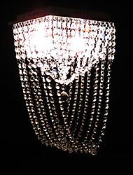 cristal de estilo semi montaje a ras de 4 luces