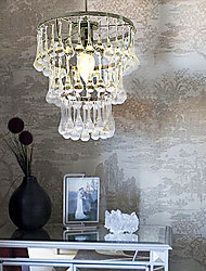 Stylish Crystal Pendant Light with 1 Light